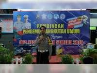 Sat Lantas Polres Bojonegoro Laksanakan Sosialisasi pada  Pengemudi dan Awak Angkutan Umum