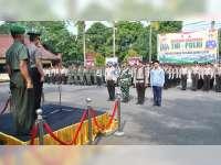 Polres Bojonegoro Laksanakan Upacara Gabungan Guna Ciptakan Pilkada Damai