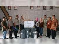 Polres Bojonegoro Berkomitmen Jaga Lingkungan Bersih dan Asri