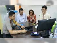 Kapolres Sosialisasikan Aplikasi CAS pada Pimpinan Bank BCA Cabang Bojonegoro