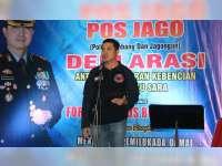 Kapolres Ajak Forum Medsos Bojonegoro Deklarasi Anti Hoax