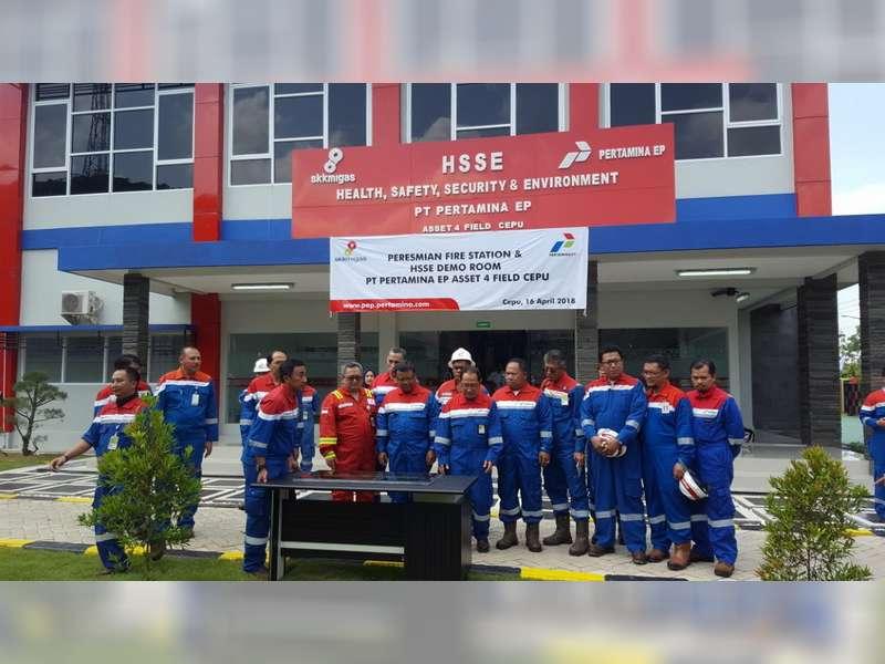 PT Pertamina EP Asset 4 Resmikan Fire Station & HSSE Demo Room