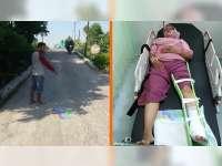 Tabrakan Motor di Padangan Bojonegoro, Seorang Pengendara Patah Kaki