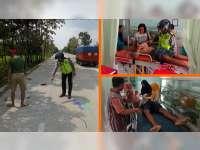 Kurang Konsentrasi, Motor Tabrak Mobil Parkir di Ngraho, 2 Orang Luka-Luka