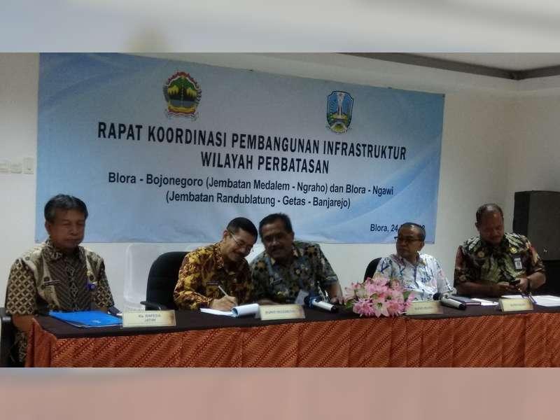 Rakor Wilayah Perbatasan Jatim - Jateng, Bahas Pembangunan Infrastruktur Jembatan
