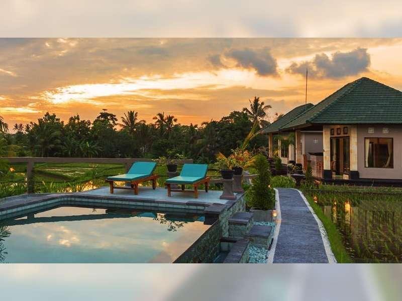 Villa di Bali, Sempurnanya Bermalam di Tengah Sawah!