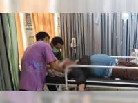 Terjatuh, Seorang Pembonceng Motor di Kalitidu Bojonegoro Luka Berat