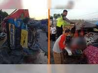 Diduga Mengantuk, Pikap Tabrak Truk di Margomulyo Bojonegoro, Pengemudi Pikap Tewas di TKP