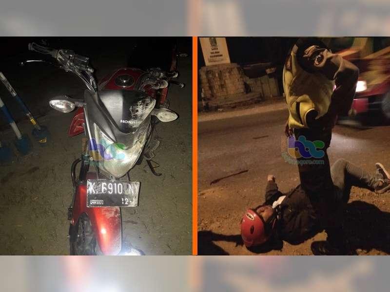 Kecelakaan di Margomulyo Bojonegoro, Seorang Pengendara Motor Masuk Rumah Sakit