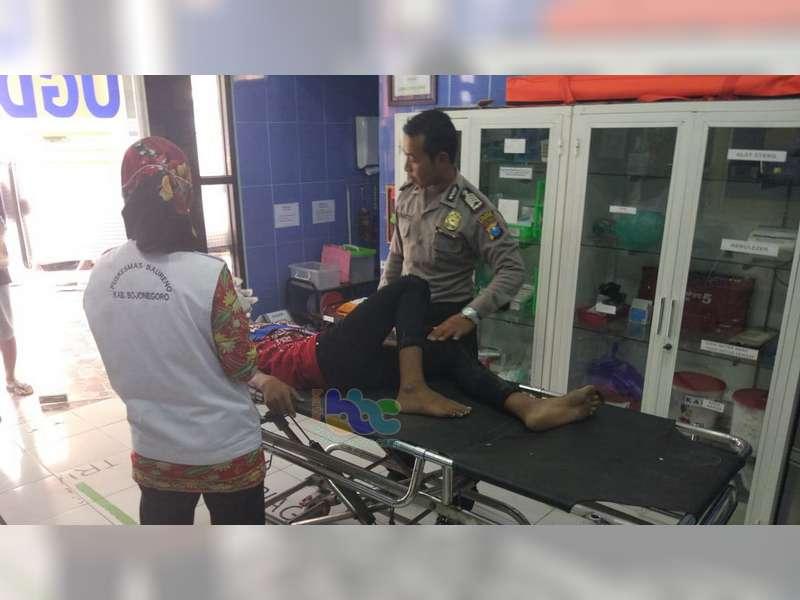 Mendadak Belok Revo Ditabrak Revo di Baureno Bojonegoro, Seorang Pembonceng Patah Kaki