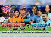 Kampanye Terbuka Paslon Mulyo Atine Dimeriahkan Laga Bojonegoro All Star vs Persela Lamongan