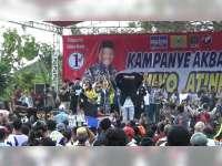 Kampanye Terbuka Paslon Nomor Urut 1 Dihadiri Ribuan Pendukung dan Simpatisan