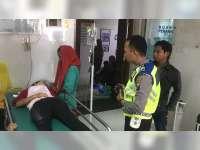 Mendadak Belok, Beat Ditabrak Mio di Kanor Bojonegoro, Pengendara Beat Masuk Rumah Sakit