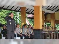 Pj Bupati Bojonegoro Pimpin Apel Pengamanan Pilkada Serentak 2018