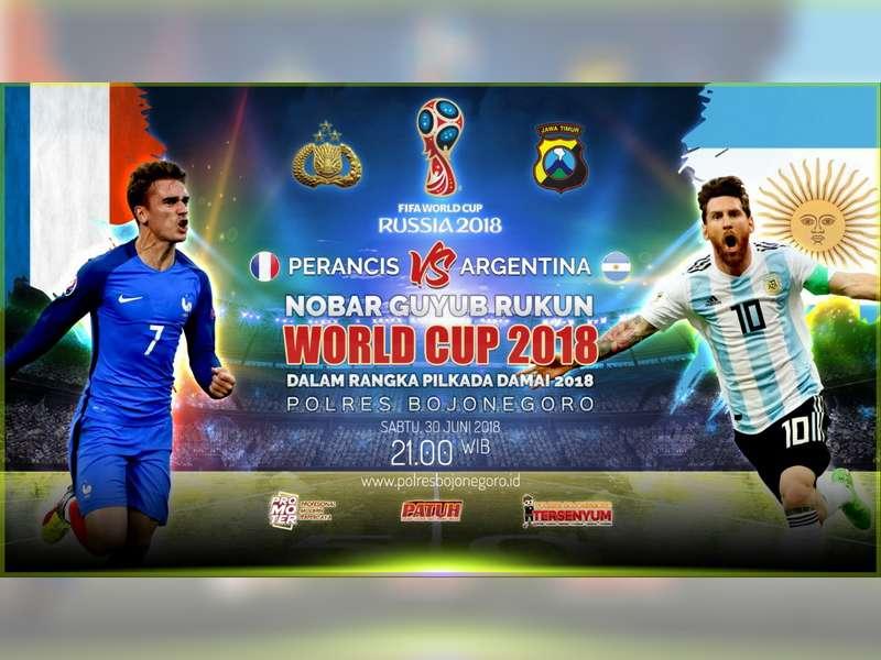 Polres Bojonegoro Gelar Nonton Bareng Piala Dunia