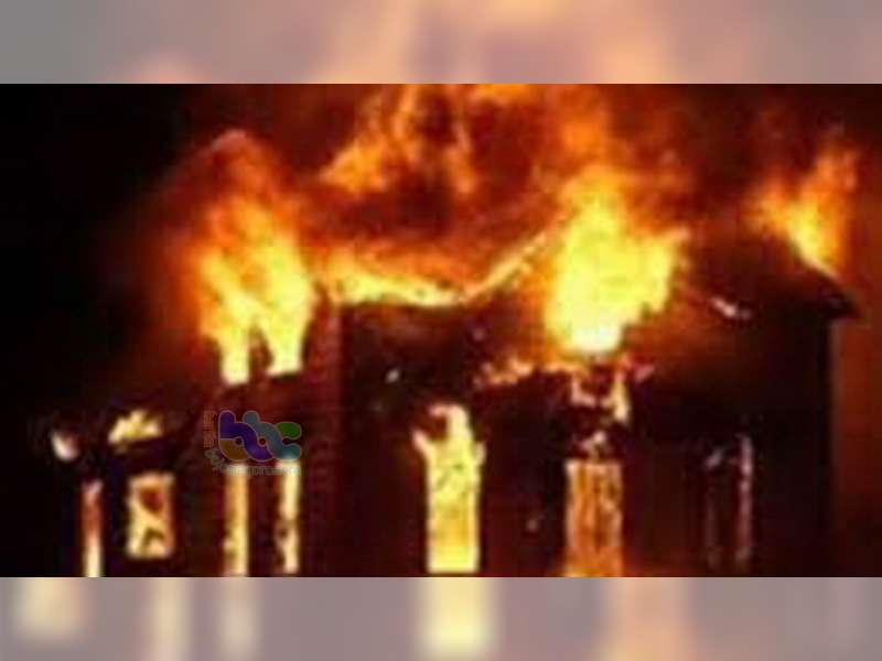 Gudang Milik Warga Padangan Bojonegoro Ludes Terbakar