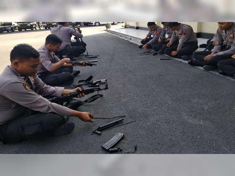 Antisipasi Tindak Kriminalitas, Sat Shabara Polres Blora Latihan Bongkar Pasang Senjata