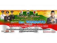 Polres Bojonegoro Akan Gelar Tabligh Akbar Bersama Ustadz Wijayanto
