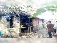 Diduga Akibat Bediang, Kandang Sapi Milik Warga Kenduruan Tuban Terbakar