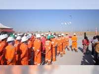 Upacara Bendera Digelar di Lapangan Banyu Urip dan FSO Gagak Rimang
