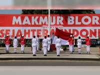 Upacara Peringatan Detik-Detik Proklamasi Kemerdekaan RI di Blora Berlangsung Khidmat