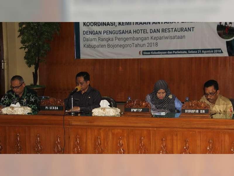 Pemkab Bojonegoro Gelar Rakor Kemitraan Pemerintah dengan Pengusaha Hotel dan Restoran