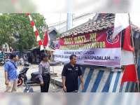 Polsek Kunduran Blora Pasang Imbauan di Tempat Ramai