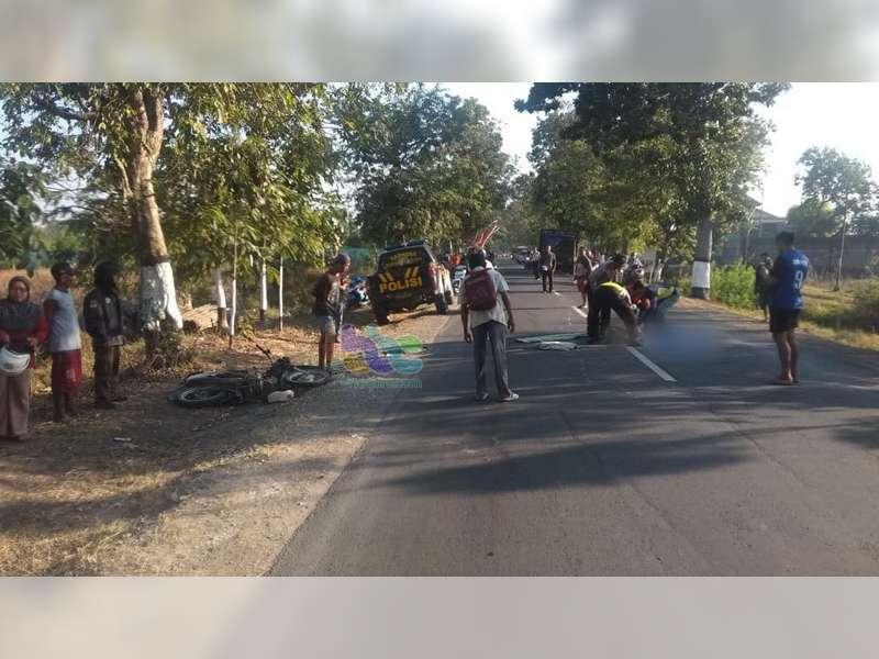 Hendak Mendahului, Supra Tabrak Beat di Bojonegoro, Pengendara Supra Meninggal Dunia