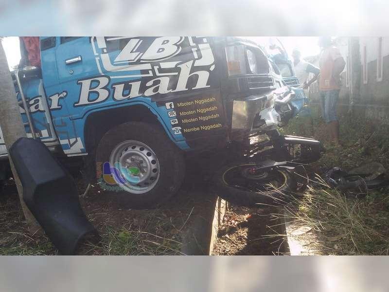 Tertabrak Pikap dan Terseret Hingga 20 Meter, Pemotor di Baureno Bojonegoro Luka-Luka