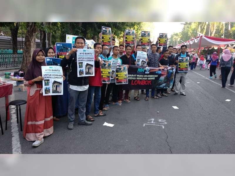 Sahabat Muda Bojonegoro Gelar Aksi Kemanusiaan Untuk Korban Gempa Lombok