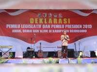 Jelang Pemilu 2019, Polres Bojonegoro Gelar Deklarasi Pemilu Damai