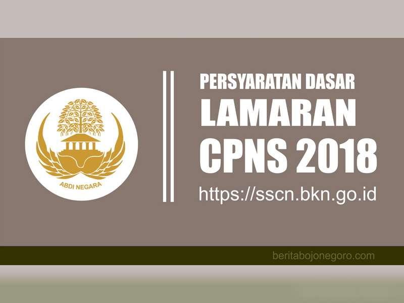 Berikut ini Syarat Dasar Bagi Pelamar CPNS 2018