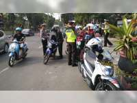 87 Pengendara Kendaraan Bermotor Terjaring Razia Sat Lantas Polres Bojonegoro