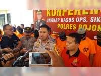Polres Bojonegoro Rilis Hasil Ungkap Kasus Operasi Sikat Semeru 2018