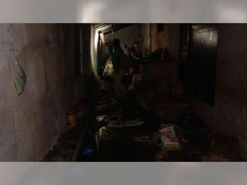 Kebakaran Nyaris Menghanguskan Gudang Toko Milik Warga Pacul Bojonegoro