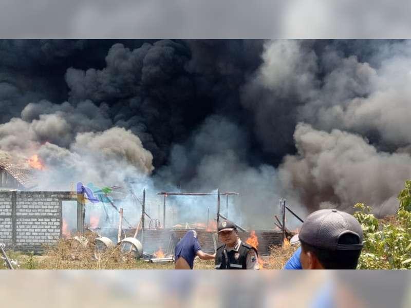 Lagi, Kebakaran Terjadi di Cepu, 5 Rumah Warga Ludes Dilalap Si Jago Merah