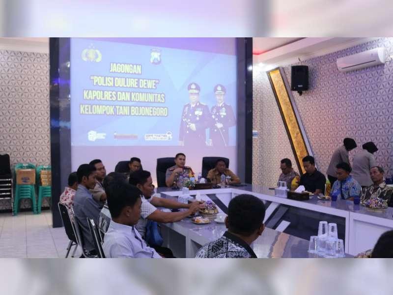 Kapolres Bojonegoro Ajak Anggota Kelompok Tani, Tolak Penyebaran Hoax