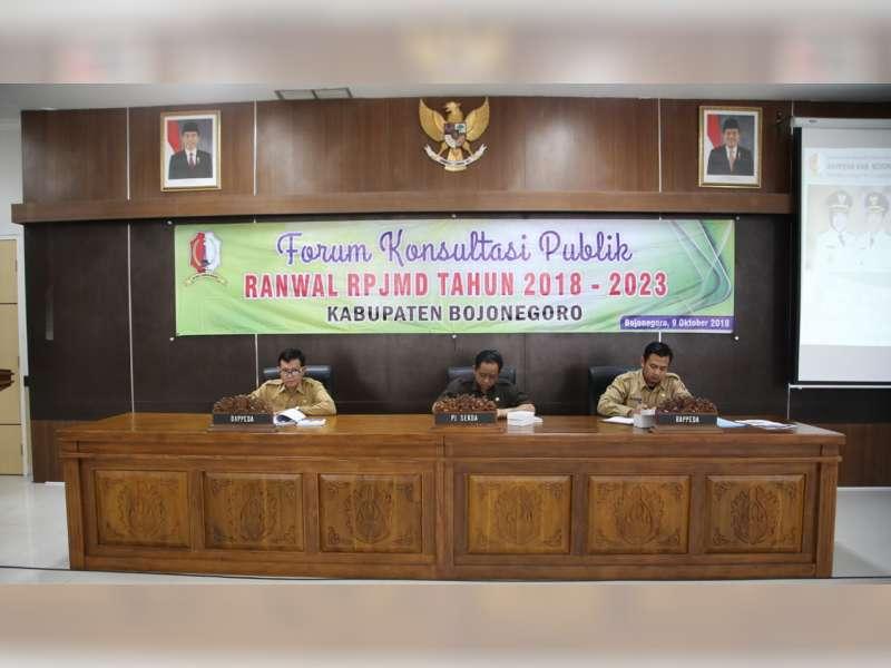 Pemkab Bojonegoro Gelar Konsultasi Publik, Bahas Rancangan Awal RPJMD 2018 - 2023