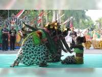 Pawai Budaya Tingkat SD dan SLTP Kabupaten Bojonegoro Diikuti 33 Peserta