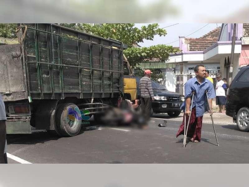 Motor Tabrak Truk di Baureno Bojonegoro, Seorang Pemotor Asal Rembang Meninggal di TKP