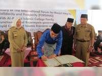 Bupati dan Forpimda Bojonegoro Hadiri Penandatanganan MOU Antara DMI dan Forsimas