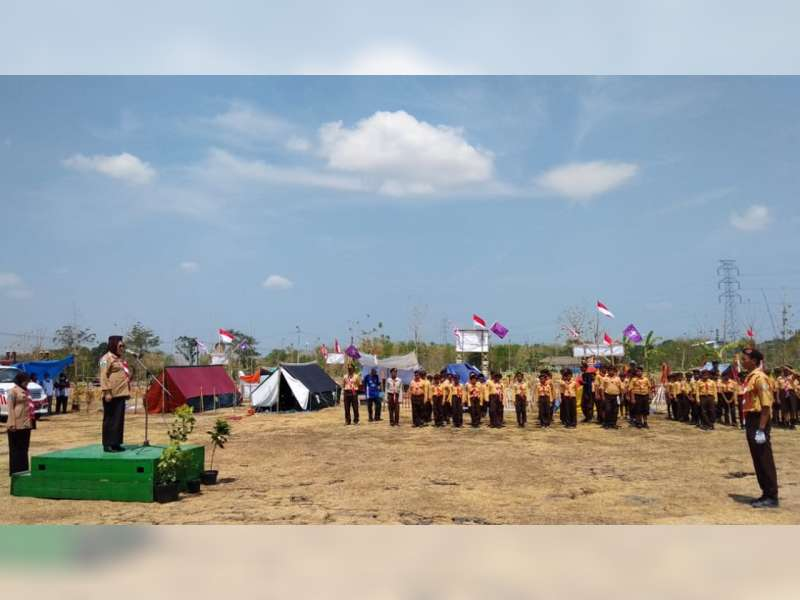 Bupati Bojonegoro Buka Jambore Pramuka Ranting Purwosari