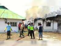Gudang Tembakau di Baureno Bojonegoro Ludes Terbakar, Diduga Akibat Korsleting Listrik