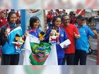 Porprov Jateng, Novita Andriyani Sumbang Emas Pertama untuk Blora dari Half Maraton