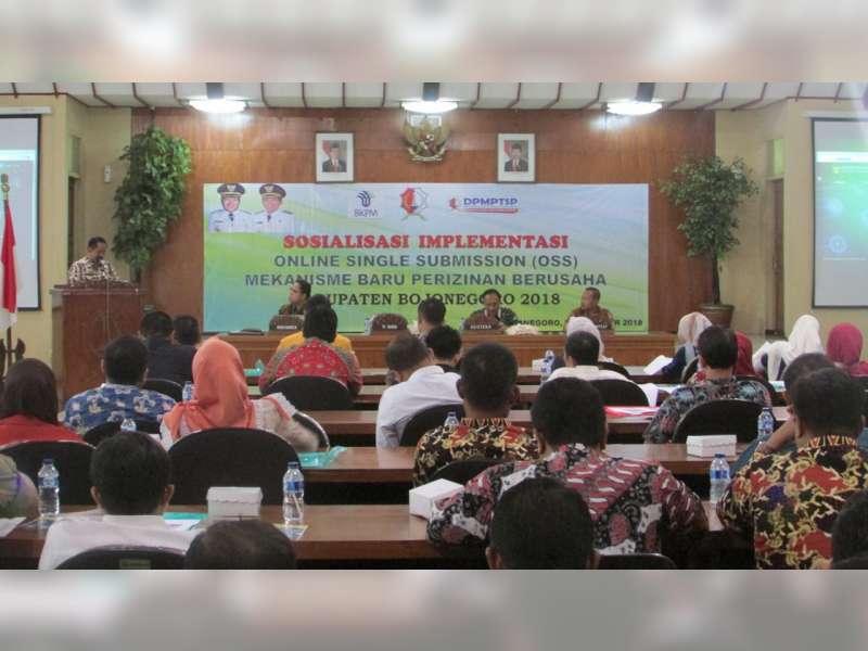 DPM PTSP Kabupaten Bojonegoro Sosialisasikan Sistem Online Single Submission
