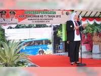 Bupati Pimpin Upacara Bendera Peringatan Hari Pahlawan di Alun-Alun Bojonegoro