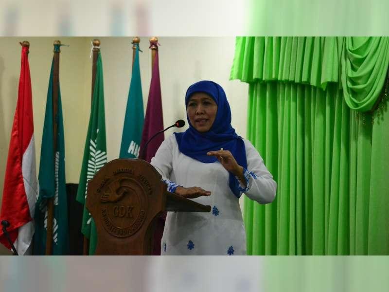 Khofifah dan Anna Muawanah Hadiri Muskerwil I Nasyiatul Aisiyah Jawa Timur di Bojonegoro