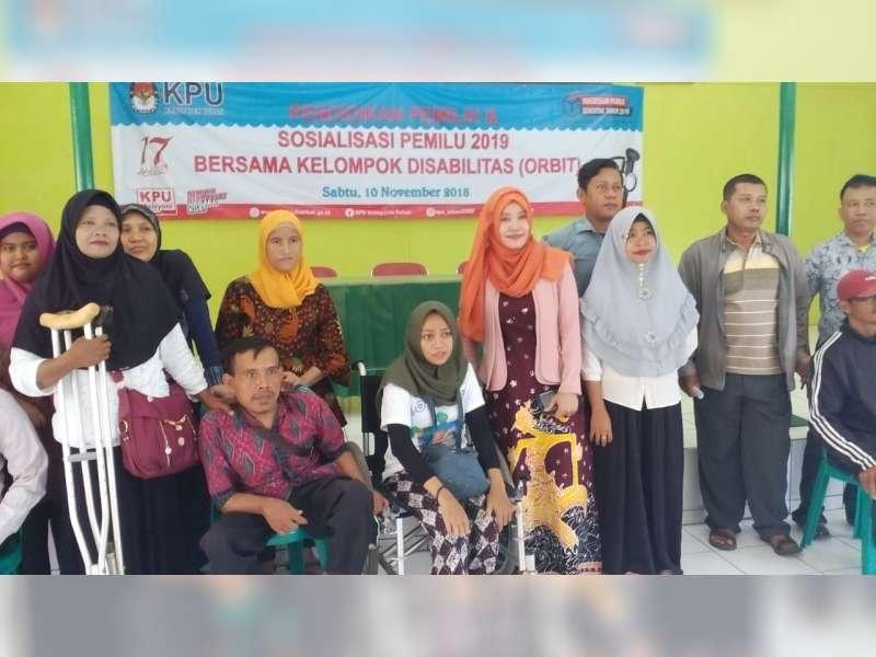 KPUD Tuban Sosialisasi Pemilu pada Penyandang Disabilitas