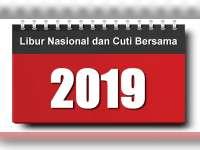 Pemerintah Tetapkan Libur Nasional dan Cuti Bersama 2019 Sebanyak 20 Hari