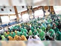 Ribuan Guru TPQ Tuban Geruduk Pendapa Kridho Manunggal